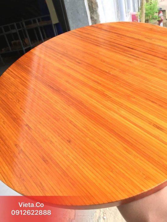 Mặt bàn tre ép tròn
